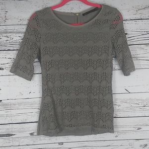 Outback Red eyelet crochet top size m